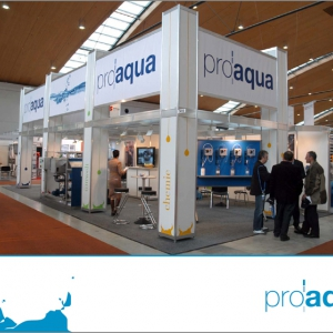 Messestand der proaqua GmbH & Co. KG.