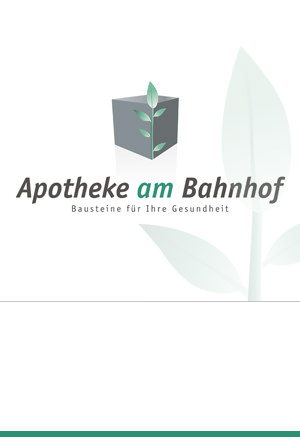 Corporate Design: Apotheke am Bahnhof, Korntal