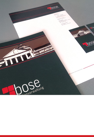 Corporate Design: Immobilienverwaltung Bose