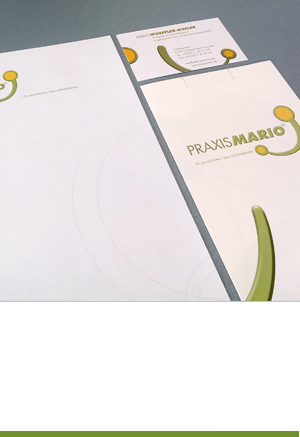 Corporate Design: Praxis Mario, Stuttgart